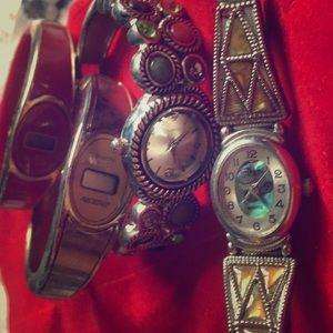 FOUR antique watches